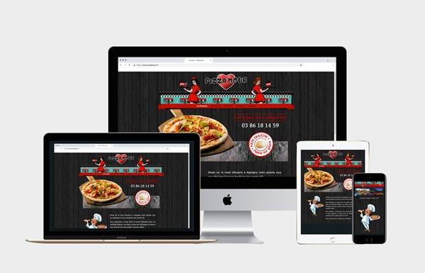 Pizzeria à Appoigny ( 89 )Création et hébergement du site internet.